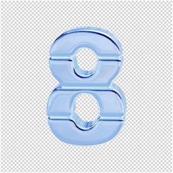 Символ из ледяной коллекции. 3d номер 8