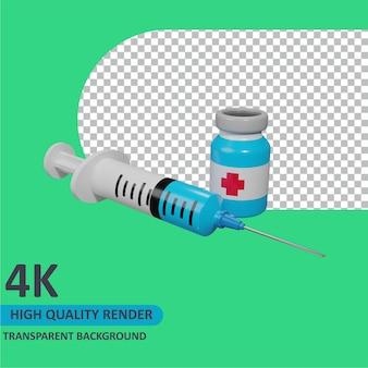 注射器漫画レンダリング3dモデリング