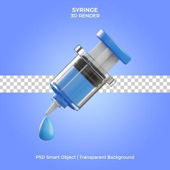 Syringe illustration 3d render isolated premium psd