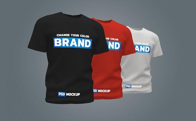 Tシャツモックアップ3dレンダリングデザイン