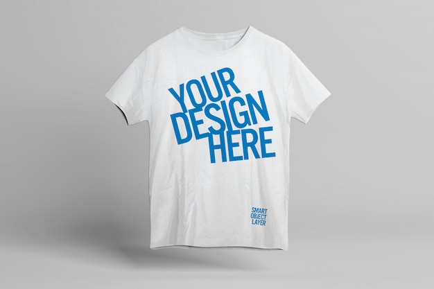 T-shirt front design mockup template