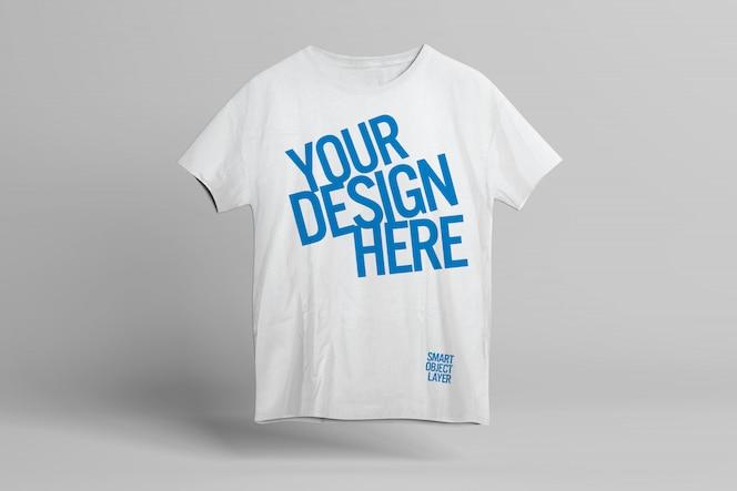 T-shirt front design mockup template