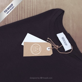T-shirt label mockup