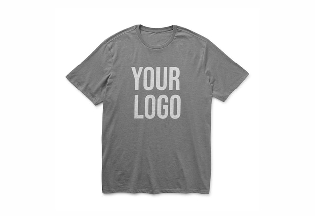 T shirt logo mockup design isolated