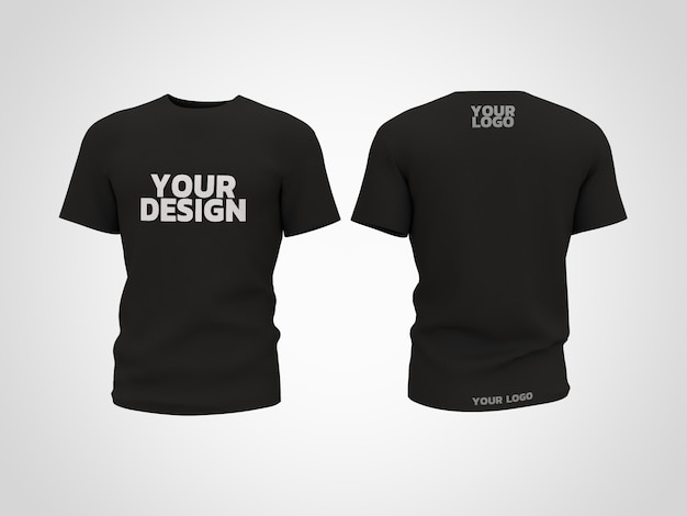 T- shirt  mockup 3d rendering design