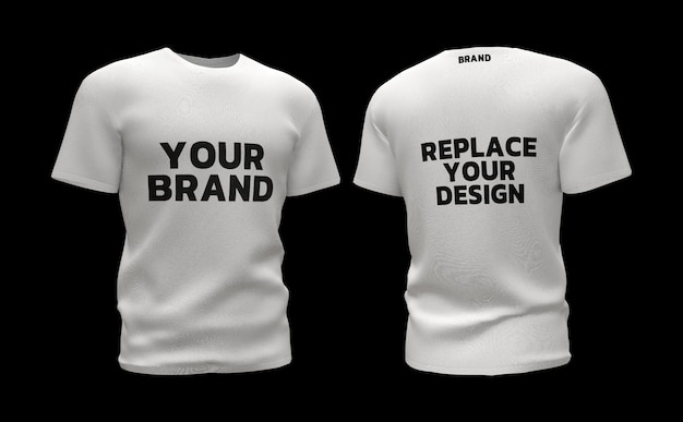 T-shirt  mockup 3d rendering design