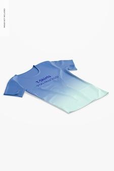 Мокап футболки, изометрический вид справа