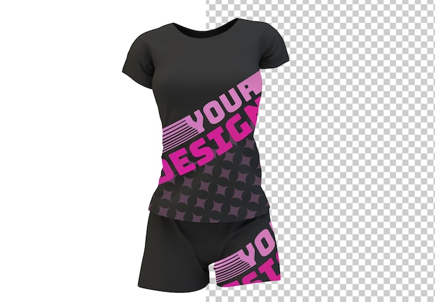 T-shirt and pants mock up isolated