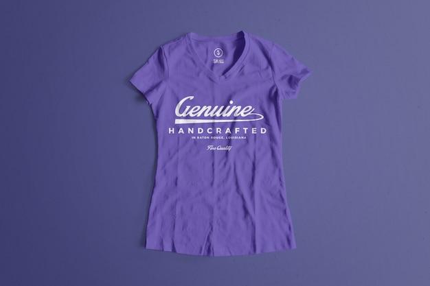 カラーtシャツのモックアップ