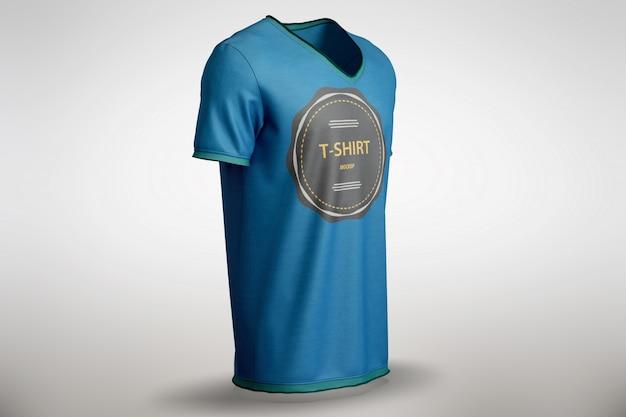 青いtシャツをモックアップ