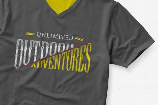 Tシャツのロゴがモックアップ
