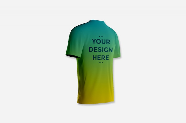 Tシャツのモックアップのショーケースバック
