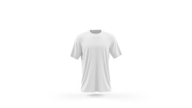 白いtシャツモックアップテンプレート分離、フロントビュー