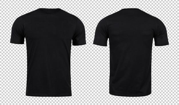 前面と背面に黒のtシャツモックアップ