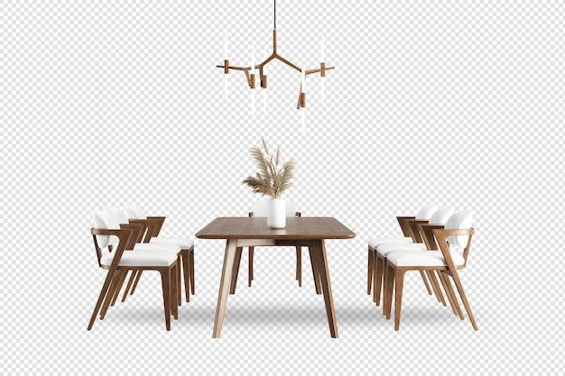 식당에 천장 조명이 있는 테이블과 의자