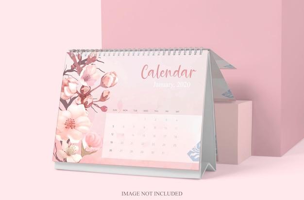 分離されたテーブルカレンダーモックアップデザイン