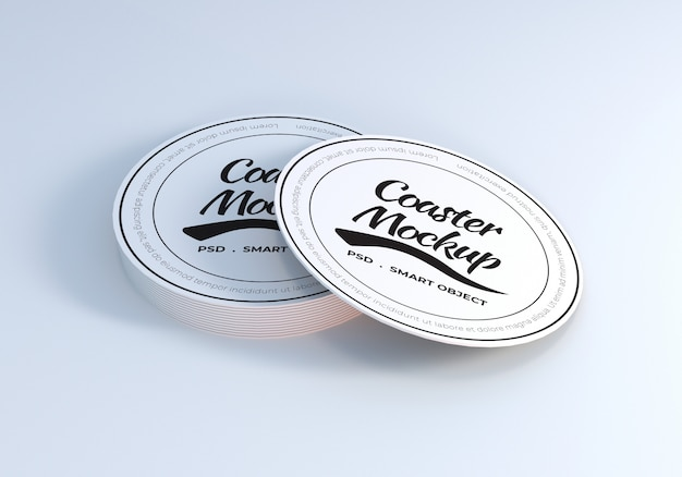 Table coaster mockup design template