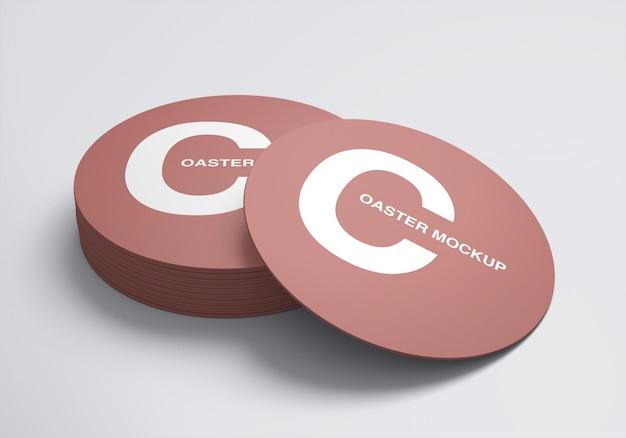 Table coaster mockup design template