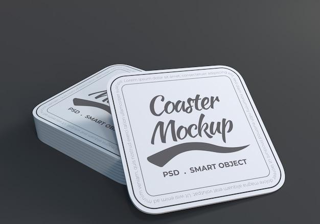 테이블 코스터 모형 디자인