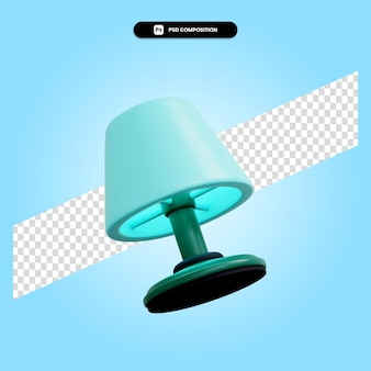 Table lamp 3d render illustration isolated