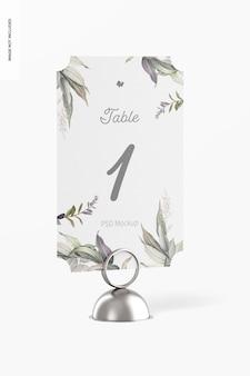 テーブル番号カードホルダーモックアップ、正面図