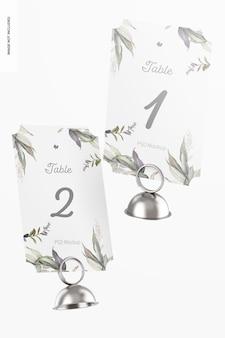 テーブル番号カードホルダーモックアップ、フローティング