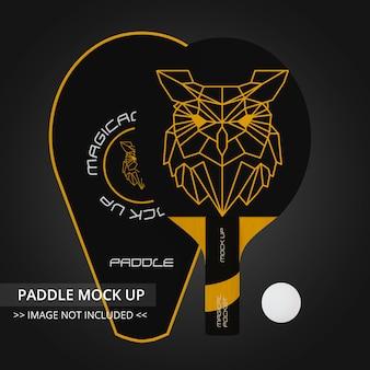 Table tennis racket mock up - single paddle and jacket