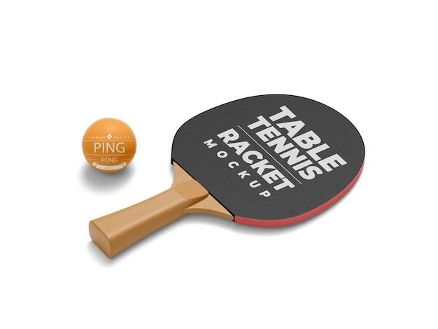 Мокап ракетки для настольного тенниса