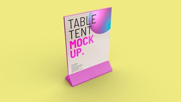 테이블 텐트 프로토 타입 디자인 외딴