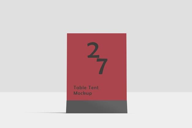 Table tent mockup