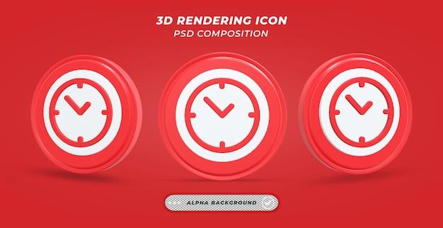 Значок настольных часов в 3d-рендеринге