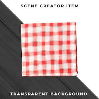 Tablecloth isolated with clipping path.