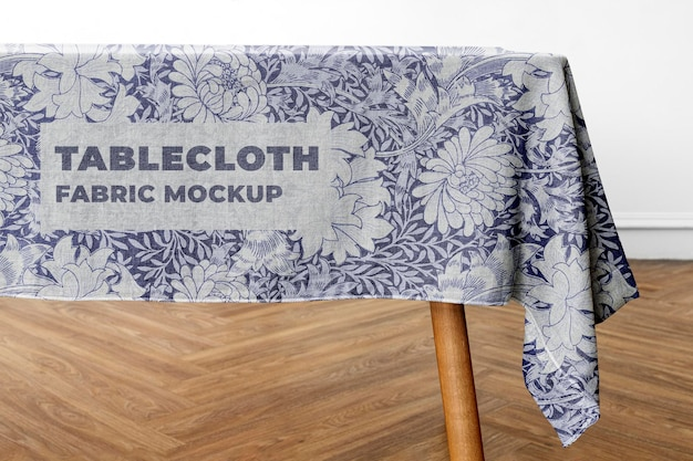 Tablecloth mockup  in dining room