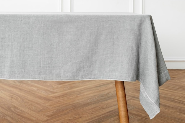 Tablecloth mockup psd in dining room