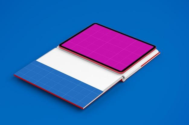 タブレットと本