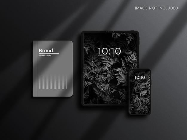 Макет планшета и смартфона с фирменным стилем