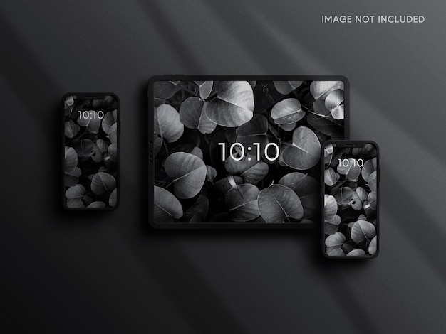 Макет планшета и смартфона