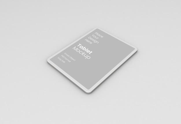 タブレット粘土モックアップリアルな3dレンダリング