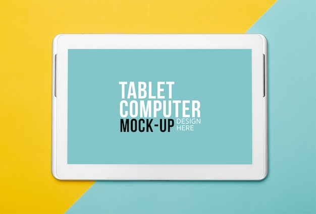 Tablet computer with screen mockup