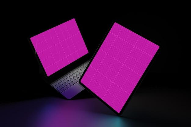 Tablet in dark