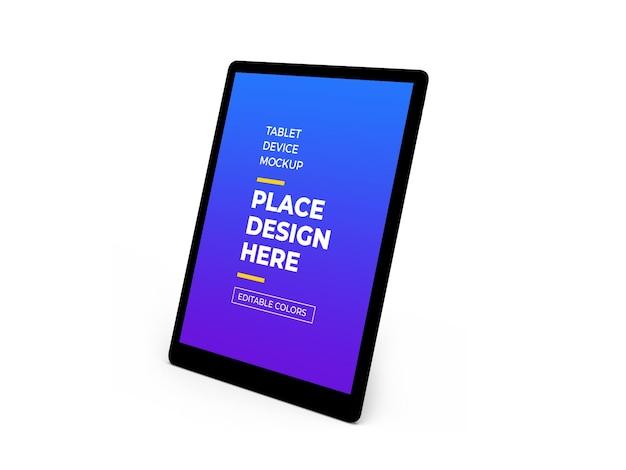 태블릿 장치 3d 목업 디자인