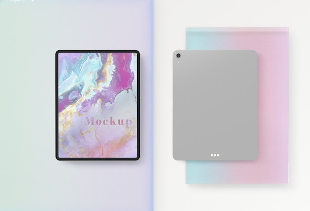 Tablet device front and back design