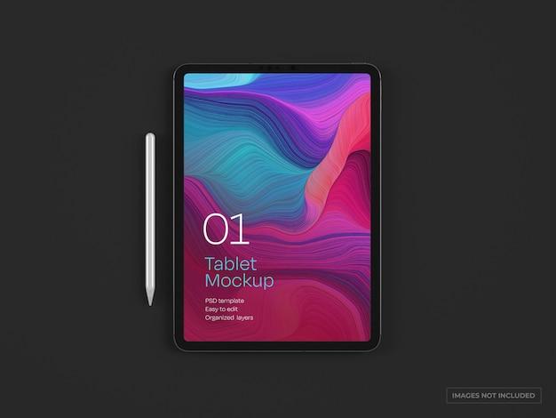 태블릿 장치 목업