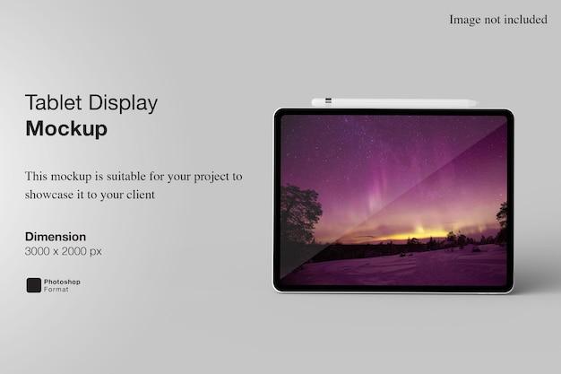고립 된 태블릿 디스플레이 이랑 디자인
