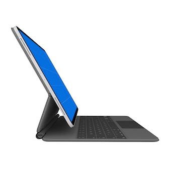 Tablet and keyboard mockup