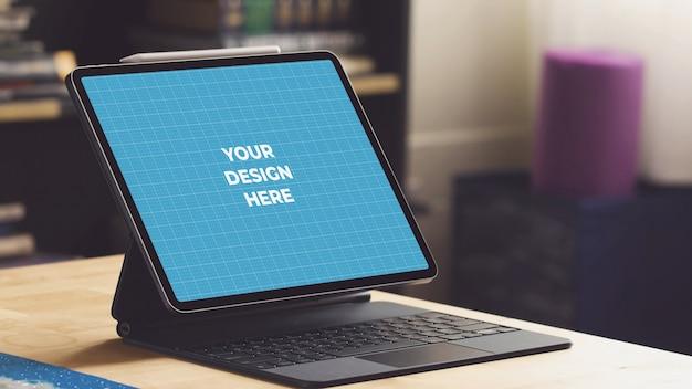 Tablet keyboard mockup
