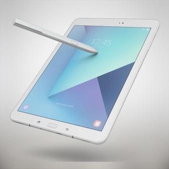 태블릿 디자인을 모의