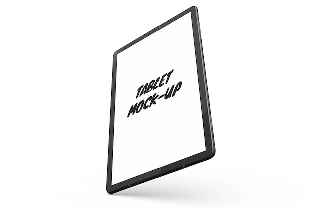 Tablet mock-up isolated
