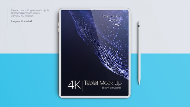 Tablet mock up with pen