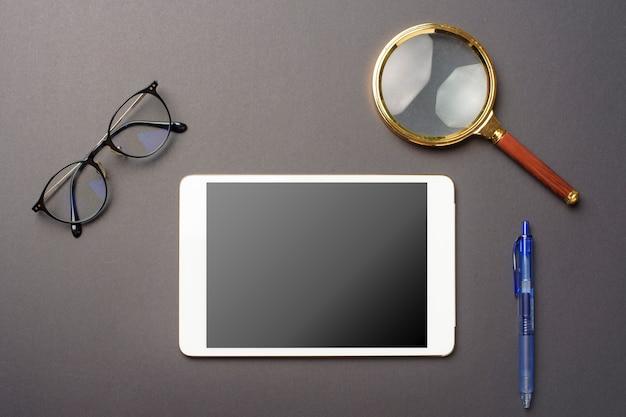 Tablet mockup on black background